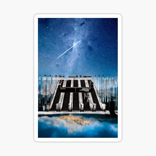 Escalator To The Heavens Sticker