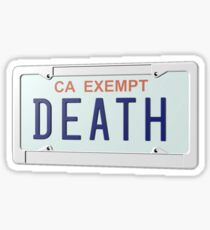 Government Plates by Death Grips Sticker