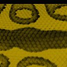 Gold Snake Animal Print Pencil Skirt by Melissa Park