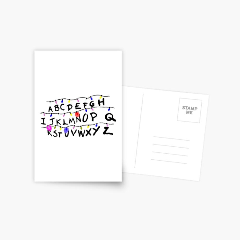 ABCD leuchtet Postkarte