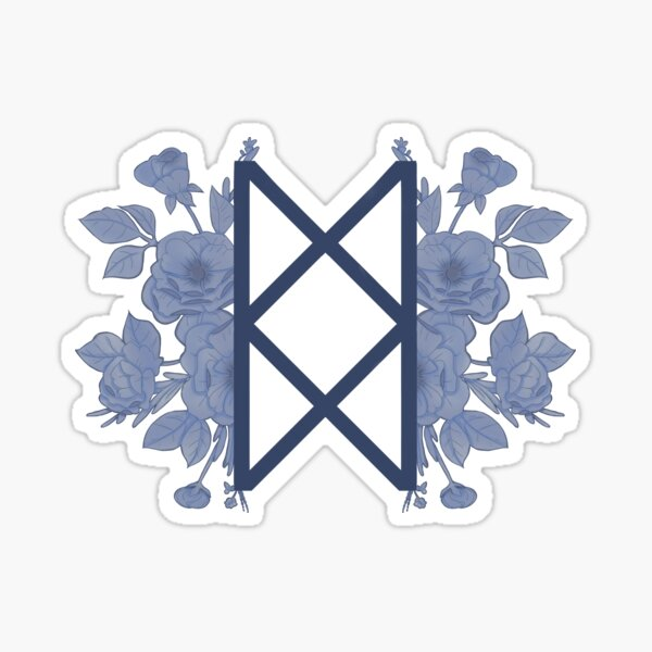 Bureau of Balance floral - Blue Sticker