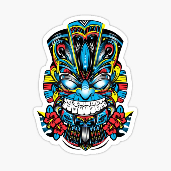 Tiki Mask Sticker