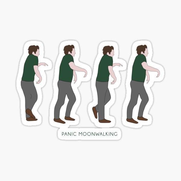 New Girl - Panic Moonwalking Sticker