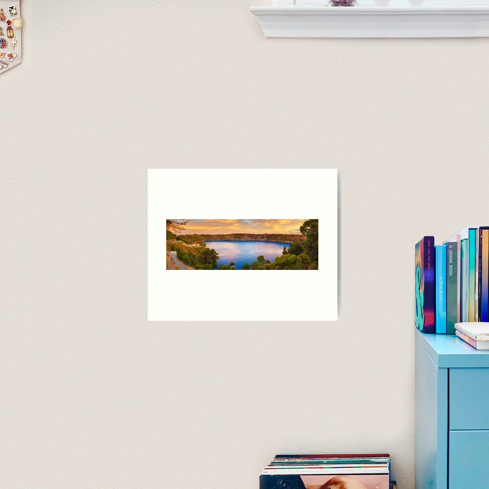 Blue Lake, Mount Gambier, South Australia Art Print