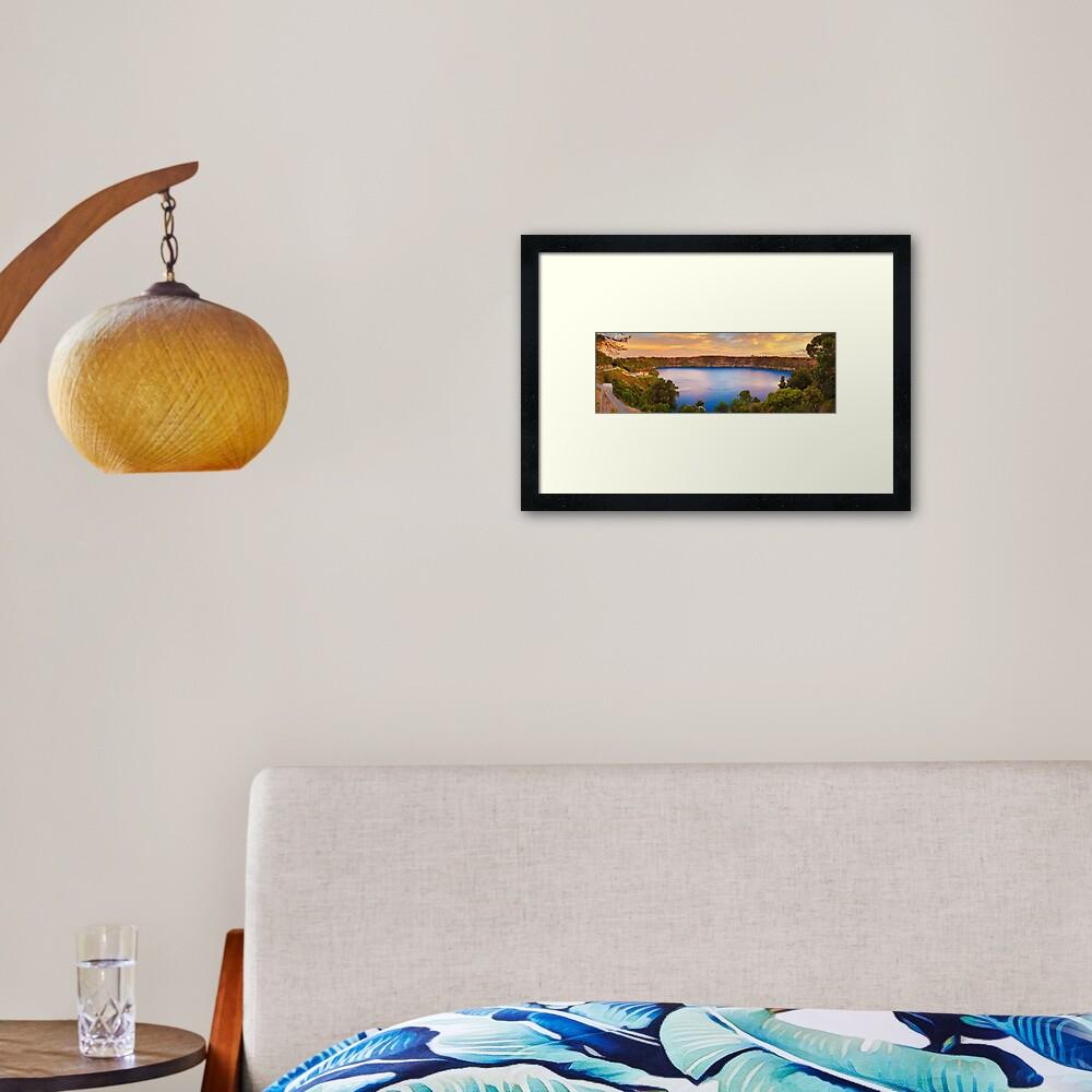 Blue Lake, Mount Gambier, South Australia Framed Art Print