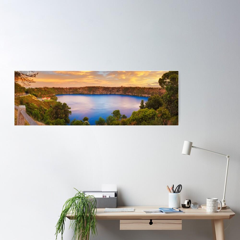 Blue Lake, Mount Gambier, South Australia Poster