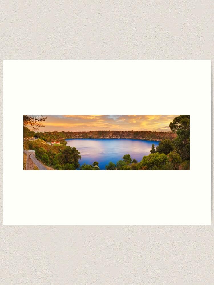 Alternate view of Blue Lake, Mount Gambier, South Australia Art Print