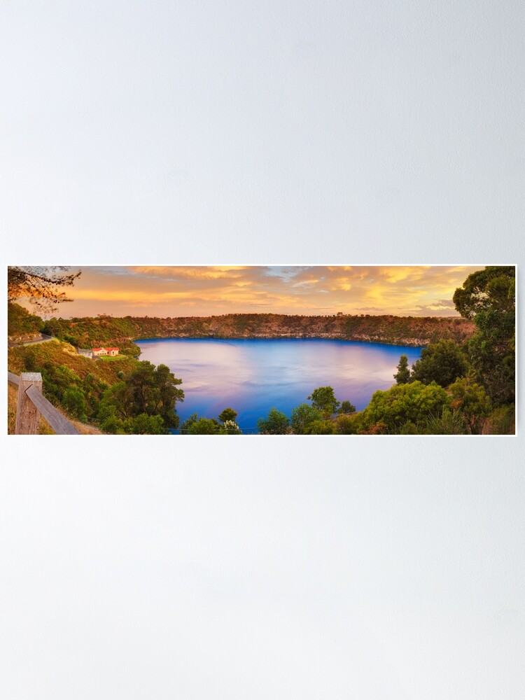 Alternate view of Blue Lake, Mount Gambier, South Australia Poster
