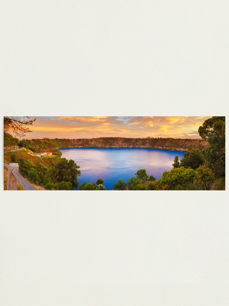 Alternate view of Blue Lake, Mount Gambier, South Australia Photographic Print