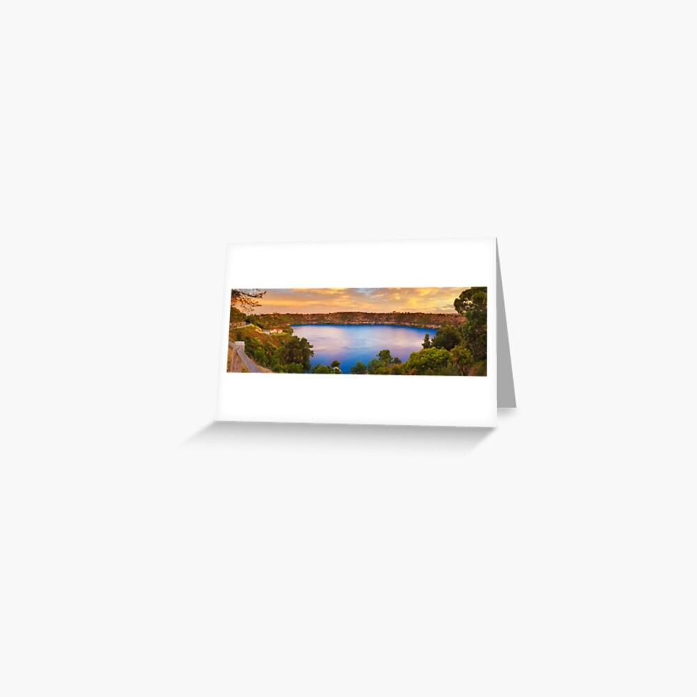 Blue Lake, Mount Gambier, South Australia Greeting Card