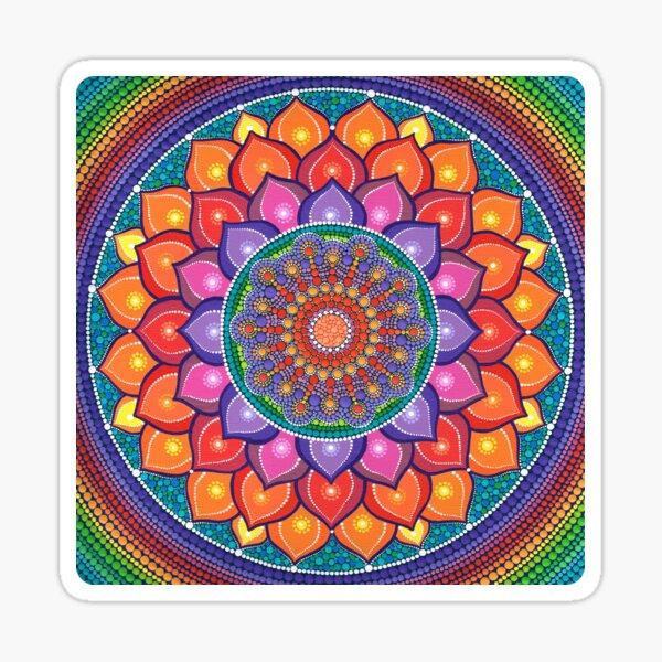 Lotus Rainbow Mandala Sticker