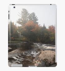 Foggy Fall Waterscape - the Rushing River iPad Case/Skin