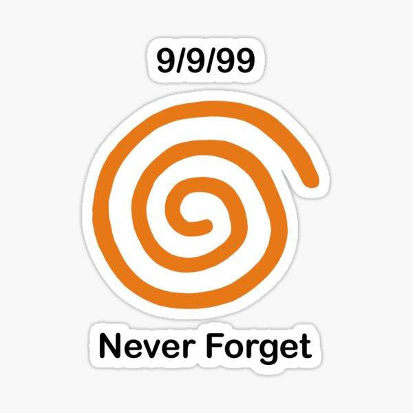 Dreamcast Never Forget (NTSC) Pegatina