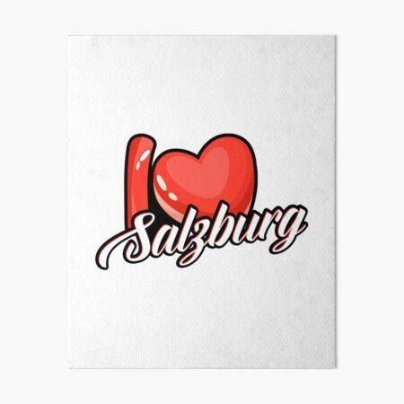 I Love Salzburg Austria Souvenir Gift Idea  Art Board Print