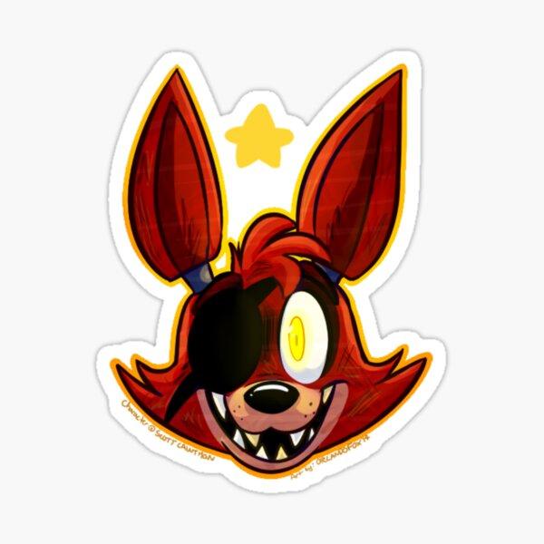 FNAF Foxy Headshot Sticker