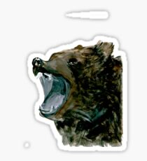 Grizzly Bear, expressive,  Sticker