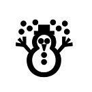 """Snowman ☃ Unicode Character """"☃"""" (U+2603) by znamenski"""