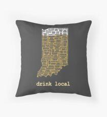 Drink Local - Indiana Beer Shirt Throw Pillow