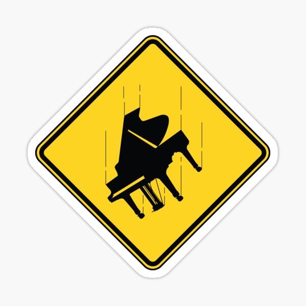 Falling Piano Pegatina