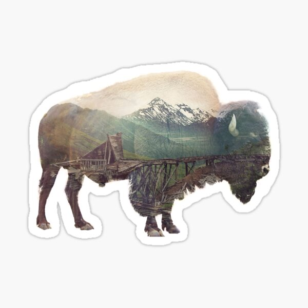 Bison and Independence Mine Sticker