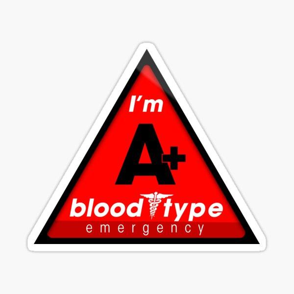 Información sobre el tipo de sangre A + / mantenerse a salvo, sugiero la aplicación a los cascos Pegatina