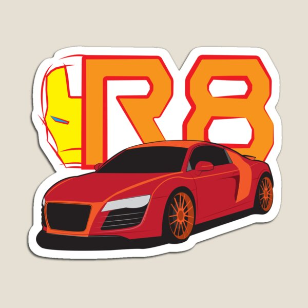 Iron Audi R8 Magnet