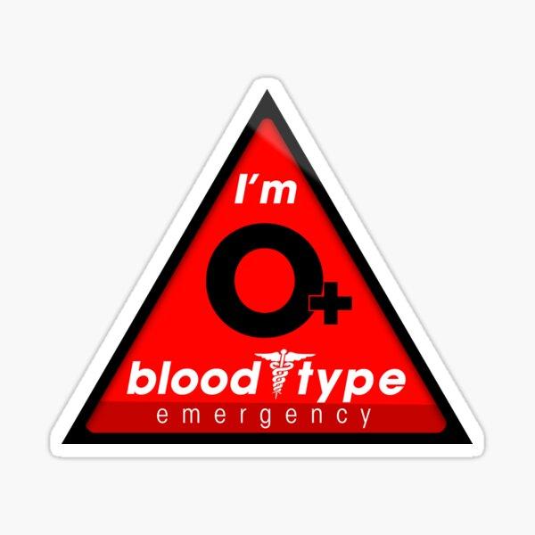 Información sobre el tipo de sangre O + / manténgase a salvo, sugiero la aplicación a los cascos Pegatina