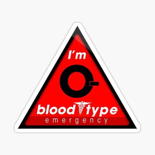 Información sobre el tipo de sangre O / mantenerse a salvo, sugiero la aplicación a los cascos Pegatina