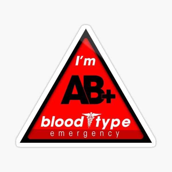 Información sobre el tipo de sangre AB + / mantenerse seguro, sugiero la aplicación a los cascos Pegatina