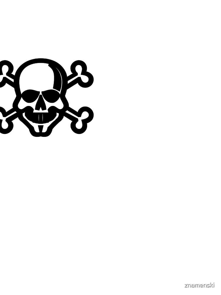 Clip Art Skull and Crossbones Unicode Character ☠ (U+2620) by znamenski