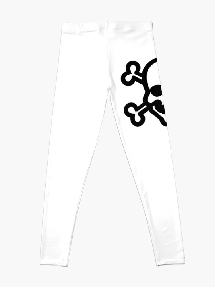 Alternate view of Clip Art Skull and Crossbones Unicode Character ☠ (U+2620) Leggings