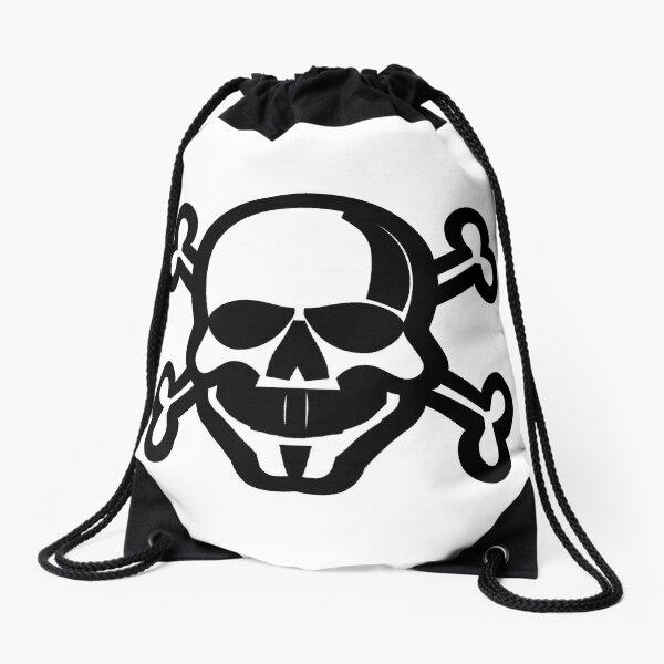Clip Art Skull and Crossbones Unicode Character ☠ (U+2620) Drawstring Bag