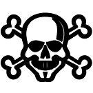 Skull and Crossbones Unicode Character ☠ (U+2620) by znamenski