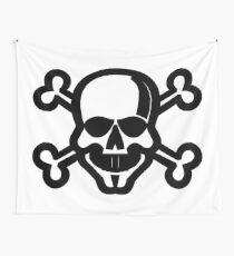 Skull and Crossbones Unicode Character ☠ (U+2620) Wall Tapestry