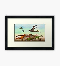 Mesozoic Procession Framed Print