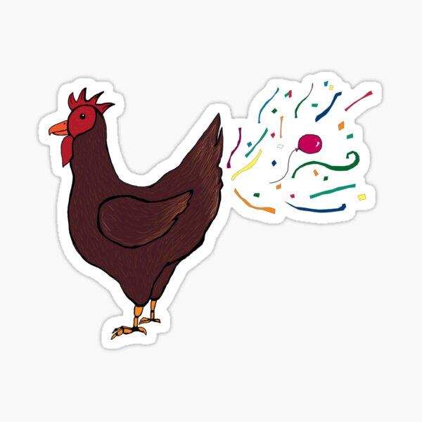 Party Chicken Sticker