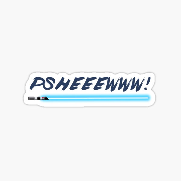 Lightsaber noise  Sticker