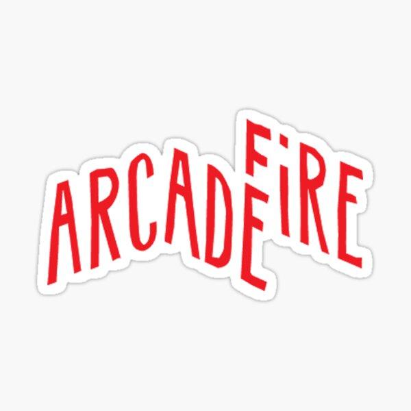 """Red Logo"" of Arcade Fire Sticker"