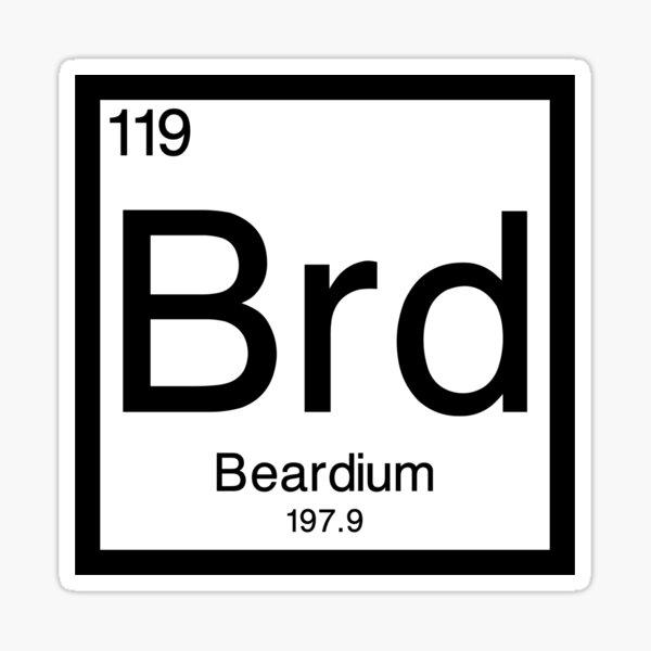 Beard Element Sticker