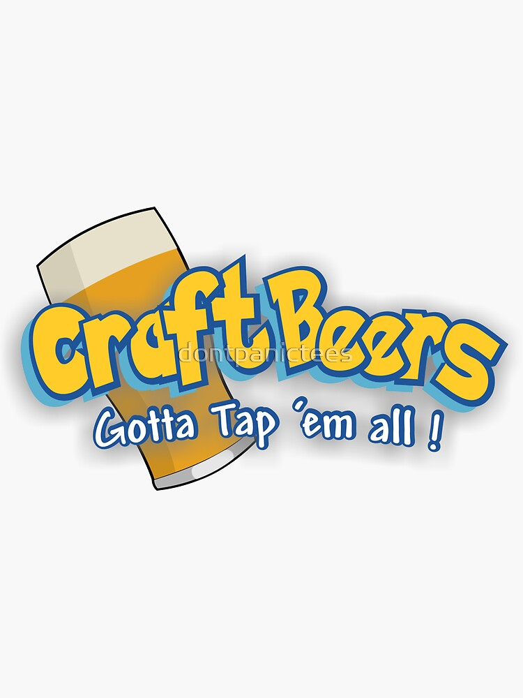 Pokemon meets craft beers by dontpanictees