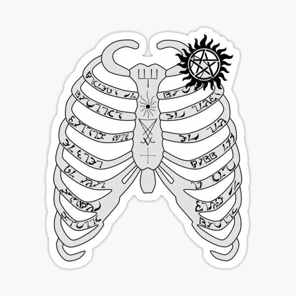 Supernatural - Dean Winchester's Ribcage Sticker