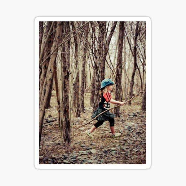 Forest Girl Sticker