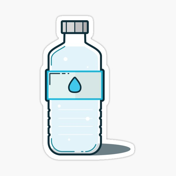 Bottle of H2O Sticker
