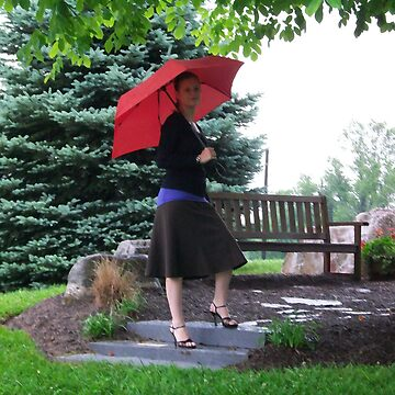 lady with the red umbrella by alexrpk