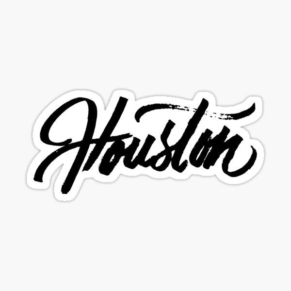 Brush Script Houston, Texas Sticker