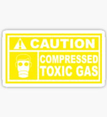 Caution - Compressed Toxic Gas Glossy Sticker