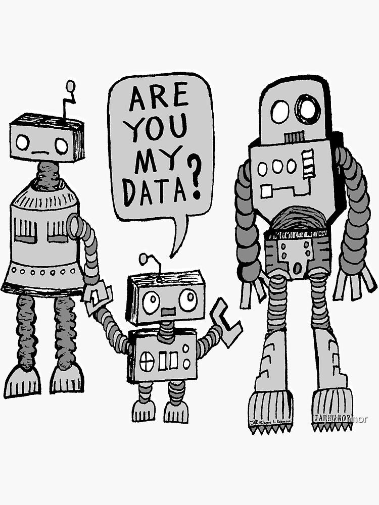 ¿Mis datos? Niño robot de jarhumor