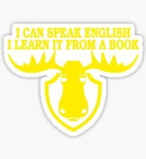 I Can Speak English, I Learn It From a Book Sticker
