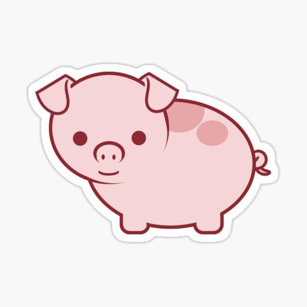 Cute Little Pink Pig Sticker