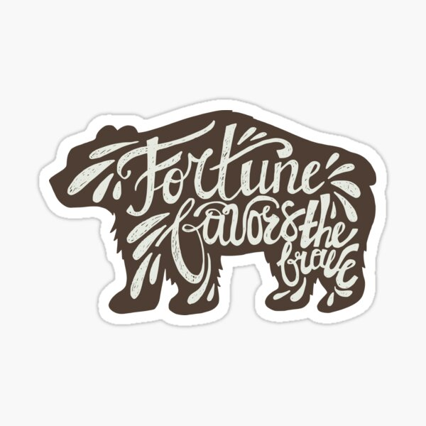 Brave Bear Sticker